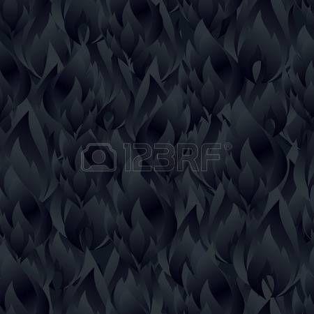Abstract dark fire flames seamless pattern design.