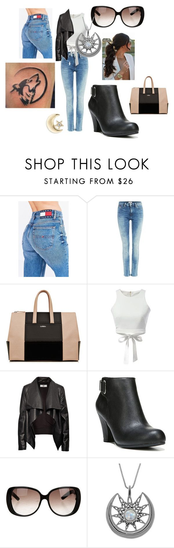 """""""Guardian"""" by jellyfishnamedsquid on Polyvore featuring Tommy Hilfiger, WithChic, HIDE, Fergalicious, Gucci, Carolina Glamour Collection and Design Lab"""