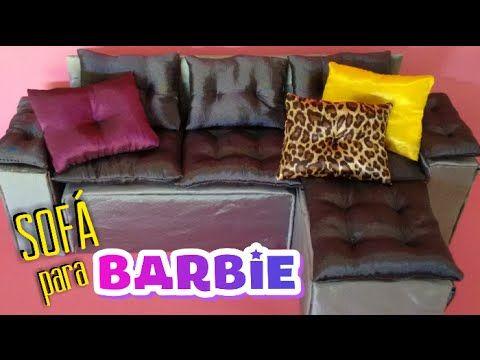 Como fazer sofá para Barbie, Monster High, Ever After High . DIY sofa for Barbie doll - YouTube