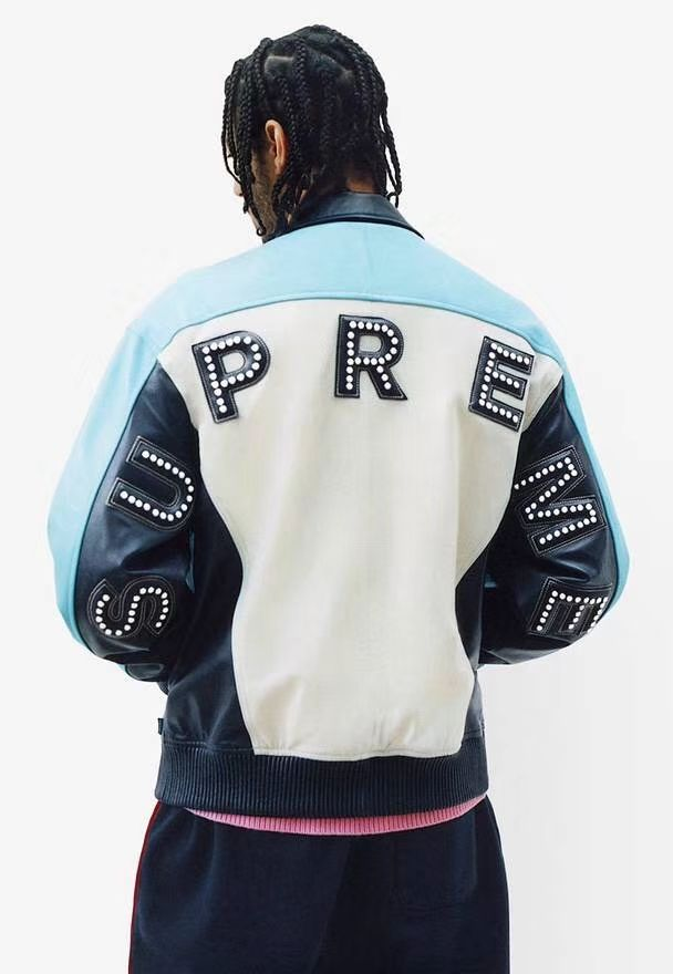 cbf7e28f75d Supreme Studded Arc Logo Leather Jacket Feelin up the Hollywood glam  This  jacket will take you there and further!  supreme  studdedarclogo   leatherjacket ...