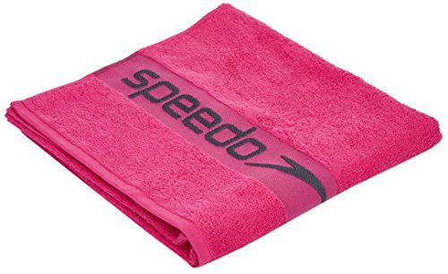 From 17.44 Speedo Unisex Border Towel - Pink/grey One Size