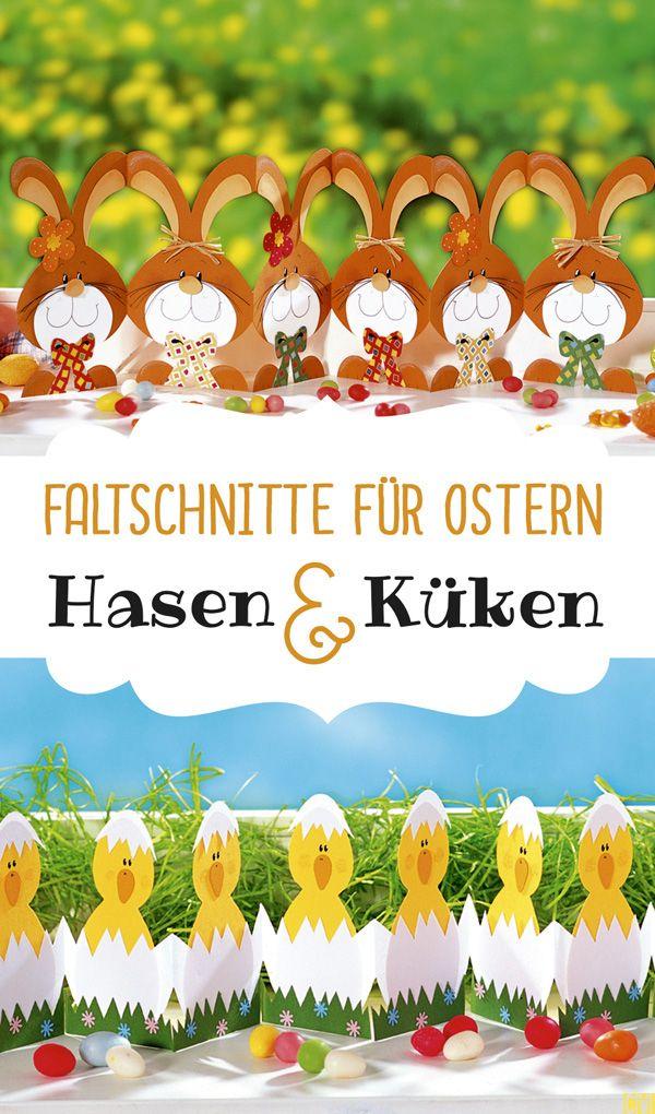 Zwei einfache Oster-Faltschnitte. (Christophorus Verlag)