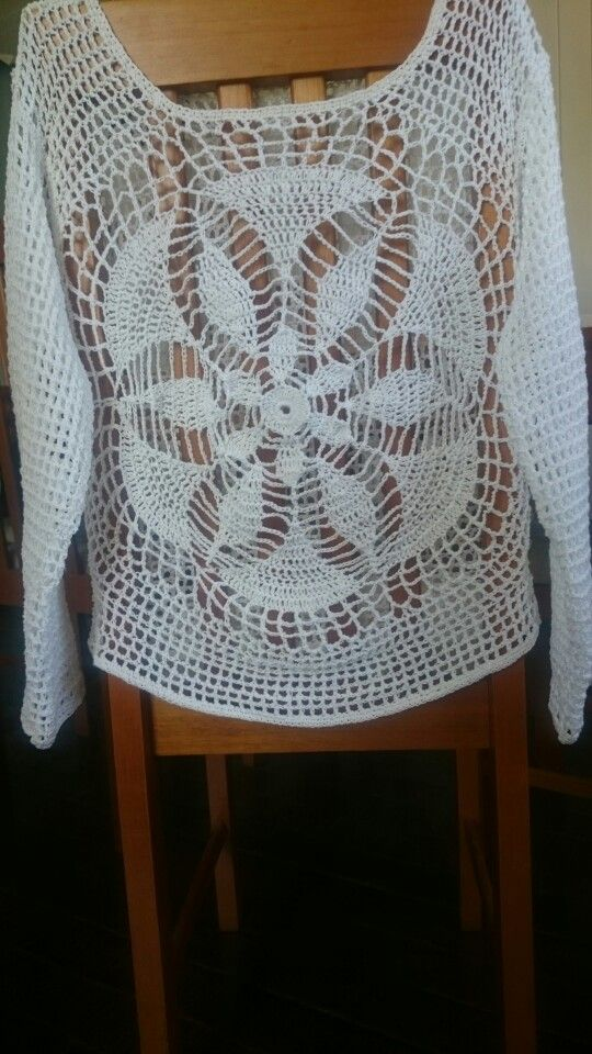 Sweter  tejido a crochet en algodón!!!
