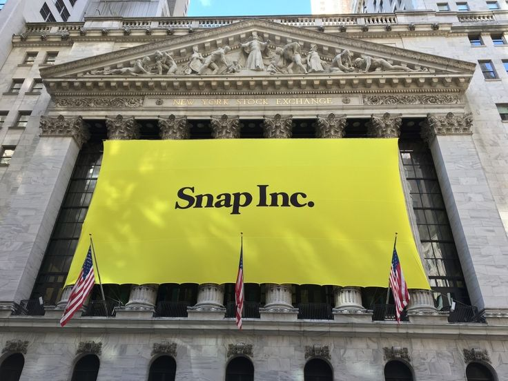 Snapchat Company's Stock Price Drops Following SNAP's IPO