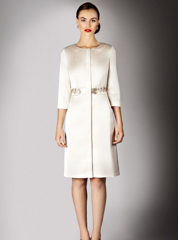 Bride Coats | Coast - Hermosa Satin Coat, £195 - Wedding Dresses for Mature…