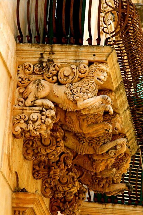 The Baroque Balconies of Noto, Sicily