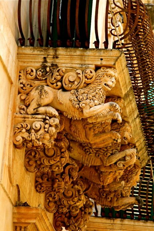 The Baroque Balconies of Noto, Sicily