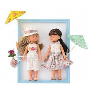 Réalisez grâce à ce kit vos propres tenues en tricot pour vos poupées de 33 cm.  30€