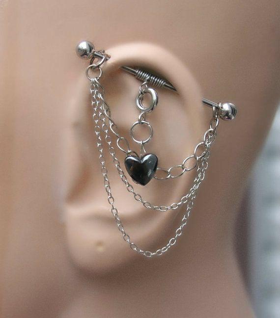 Versatile Industrial Barbell Ear Piercing 4 ways to by triballook