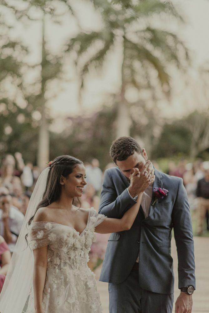 Casamento ao ar livre rústico romântico no Rio de Janeiro   – Cerimônia de Casamento