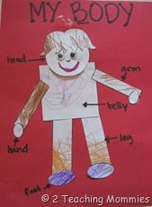 Shape Person Craft #printables #ece #preschool #craft