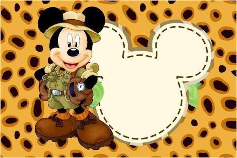 Resultado de imagen para safari mickey
