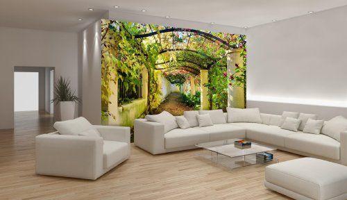 Garden pergola wallpaper mural consalnet for Amazon mural wallpaper