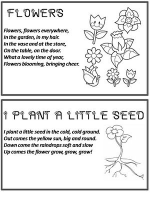 Flowers poems for kids