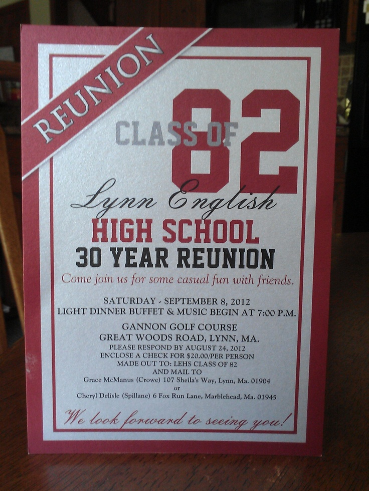 114 best Class Reunion images on Pinterest Class reunion ideas - class reunion invitations templates