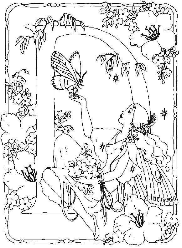 fairy coloring pages for adults january 5 2012 alphabet coloring pictures coloring - Drawing And Colouring For Kids