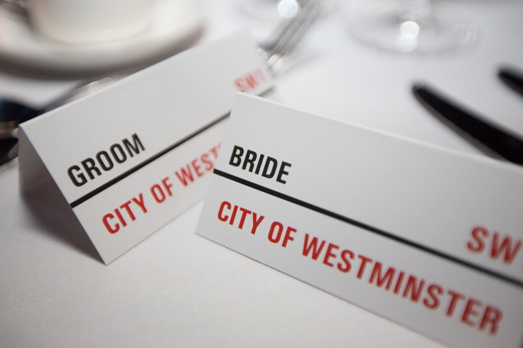 London Place Cards