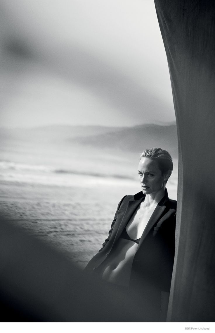 Amber Valletta Stuns in Black & White Photos by Peter ...