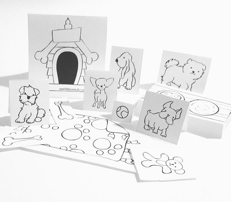 Adorable puppy paper craft from One Little Seed. This is a great portable craft idea for kids.