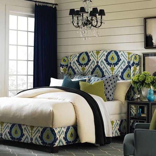I will be needing this. Ikat & polka dot pillows? Go ahead!