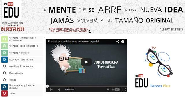 #Youtube EDU ahora esta disponible en español y nos ofrece una completa selección de vídeos gratuitos para aprender.