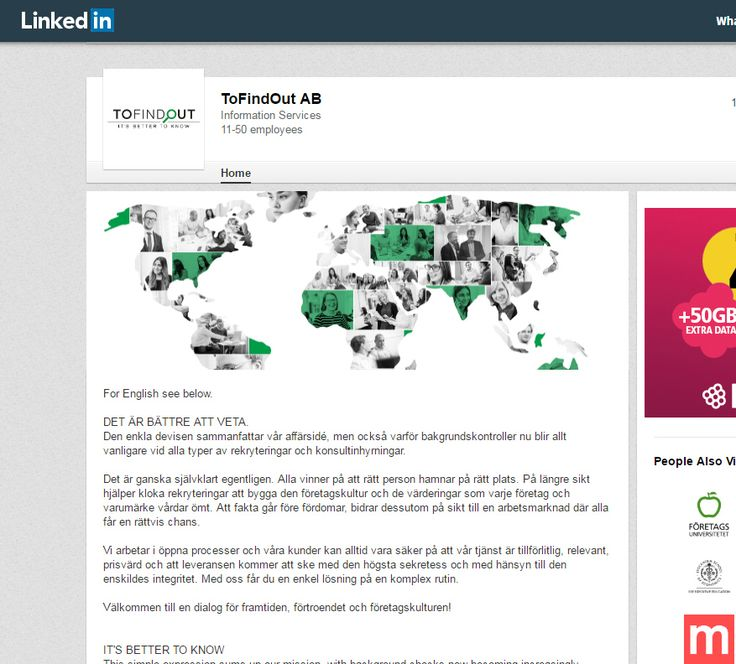 TFO linkedIn profil. (2016)