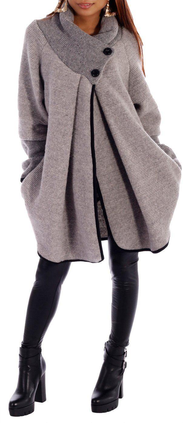 Damen Mantel im Poncho Cape Stil, Poncho Jacke: Amazon.de: Bekleidung