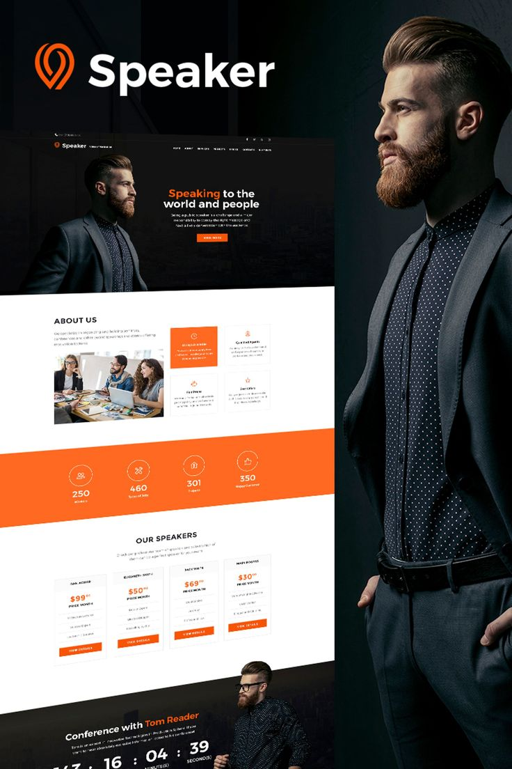 Speaker - Life Coach WordPress Theme Big Screenshot