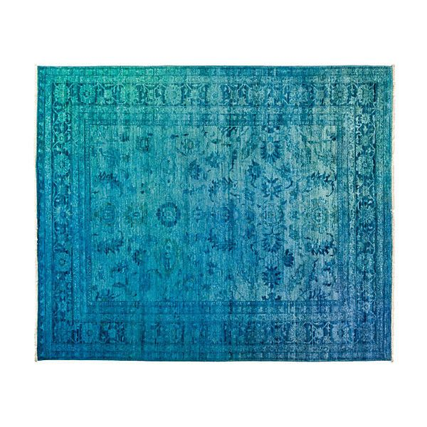 """8'4""""x10' Eiffel Oriental Rug Blue Area Rugs ($4,525) ❤ liked on Polyvore featuring home, rugs, blue, asian rugs, hand knotted rugs, oriental rug pads, blue oriental rug and hand-knotted rug"""