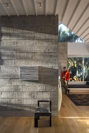 Sod the Villa by Malcolm Walker Architects | cast in-situ concrete and profiled ceiling