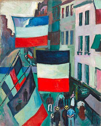 ラウル・デュフィ Raoul Dufy 《旗で飾られた通り》 1906年 油彩、カンヴァス