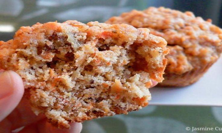 Muffins aux carottes et noix de Grenobles! Savoureux, bien moelleux et pleins de saveurs!