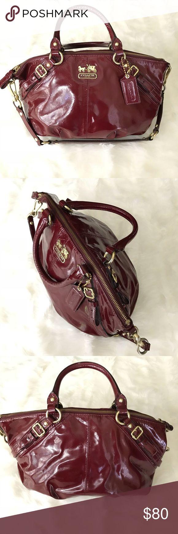 Coach Sophia Madison Crimson Patent Leather Bag Pinterest Bags And Satchels