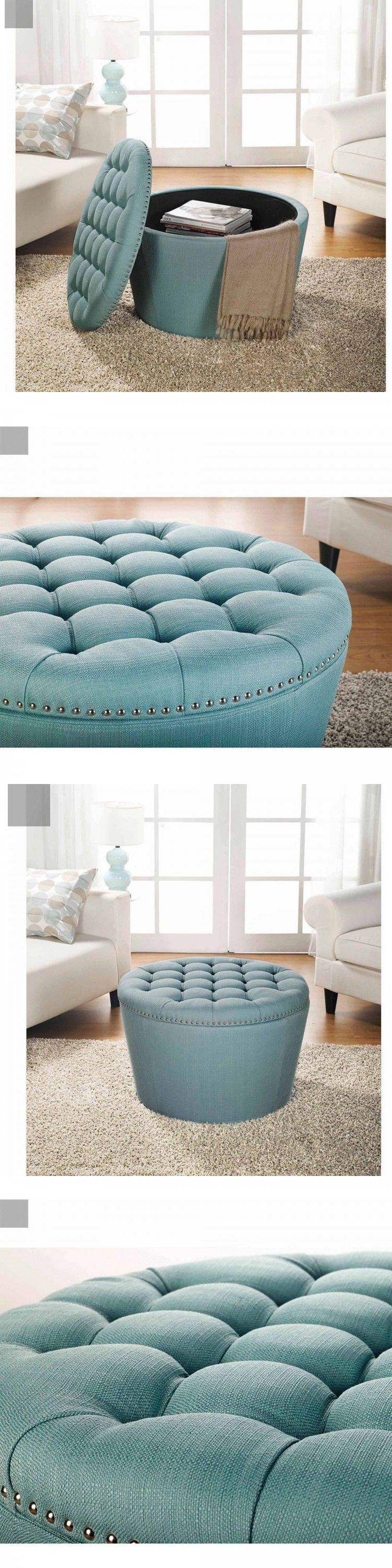 best 25 round storage ottoman ideas on pinterest ottoman with ottomans footstools and poufs 20490 round storage ottoman aqua bench tufted fabric upholstered nailheads footstool