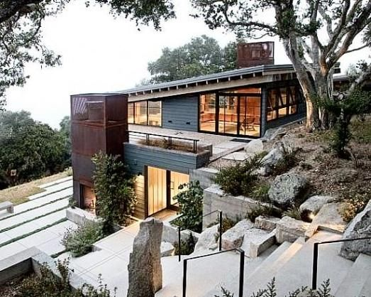 12 best sloping land architecture images on pinterest for Building a garage on a sloped lot