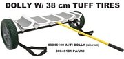 Click Image for more info: HOBIE KAYAK DOLLY   	    80046100 AI/TI DOLLY - WITH TUFF TIRES  $375.00        80046200 AI/TI DOLLY - WITH BEACH WHEELS  $499.00        80046101 PA/UNI - WITH TUFF TIRES  $355.00        80046201 PA/UNI - WITH BEACH WHEELS  $479.00