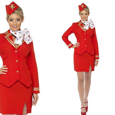 Ladies #cabin crew #fancy dress uniform - air hostess flight attendant #costume,  View more on the LINK: http://www.zeppy.io/product/gb/2/111148938695/