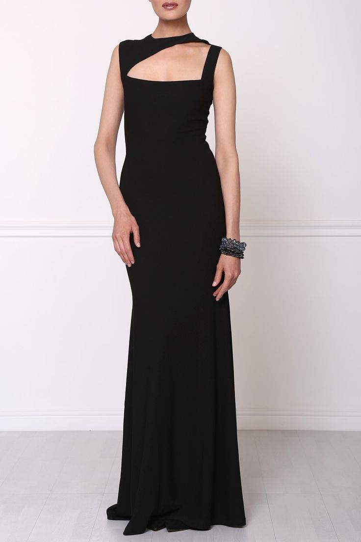 Look at Isabel Garcia perfect evening attire. A bracelet is a perfect complement to the black dress. Soon you will be able to order this dress and a plenty of other amazing outfits and accessories online!  http://bit.ly/1A4HiXN
