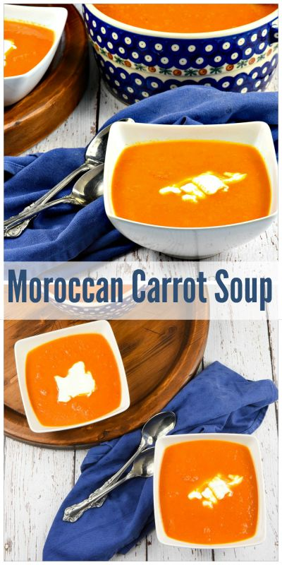 Moroccan Carrot Soup uses spices that are new to me and make a mouthwatering bowl o soup! Topped with sour cream, it is delicious. But, after all, sour cream makes everything good doesn't it?