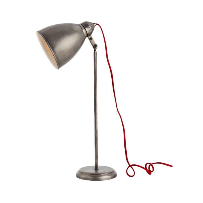 Brushed steel lamp