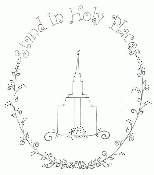 Stand in Holy Places Embroidery - lovely idea to put on an apron or pillow case