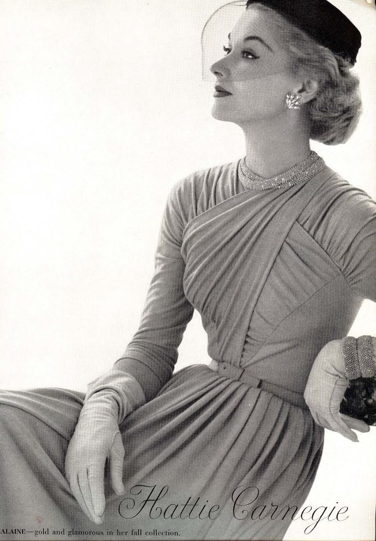 Hattie Carnegie is one of the most important women in American Fashion history. Carnegie was an immigrant from Austria, who basically learned the power of imitation in the fashion industry. Carnegie studied the fashions from Paris and recreated the designs for the American market. Carnegie's American business was so popular that it employed more than 1000 people by the 1940's.