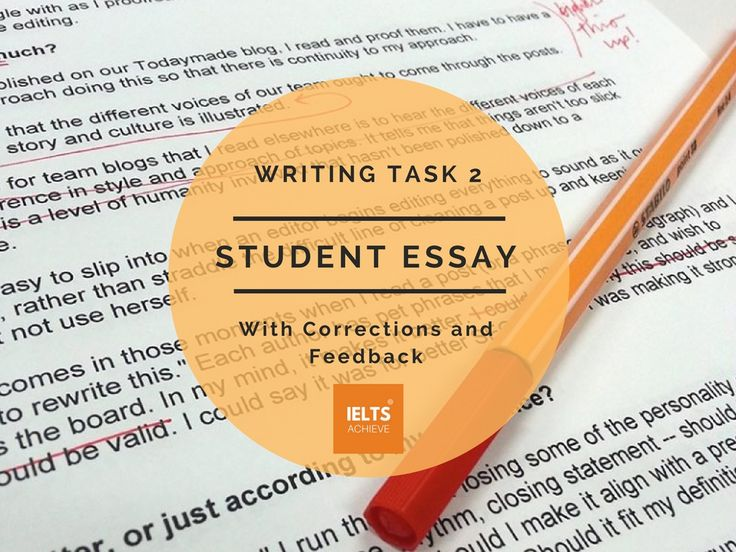 IELTS task 2 student essay and feedback