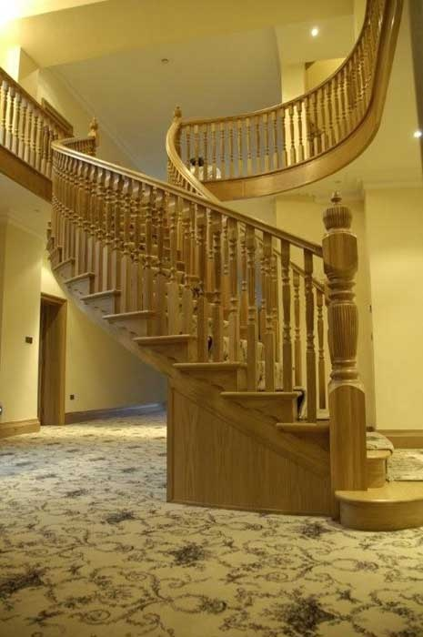 Cutstring Staircase, panelling etc