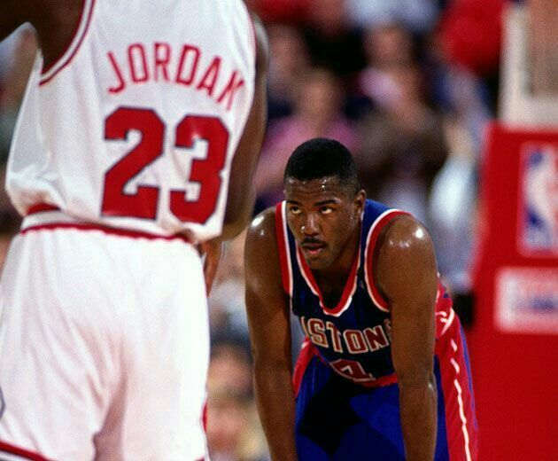 The look on Joe Dumars' face in Chicago shows that he earned his money whenever he had to guard the GOAT.