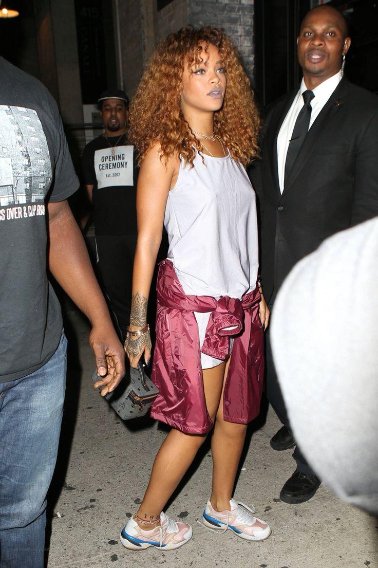 Rihanna street style fashion outfit 2016 Anti era Fenty badgalriri
