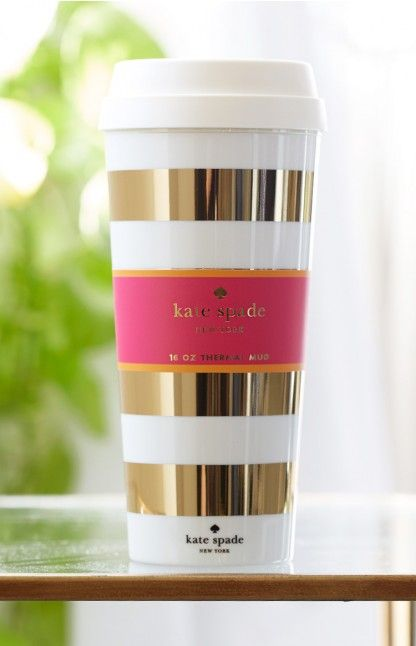 Kate Spade Travel Mug Gold: