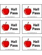 printable hall pass for students