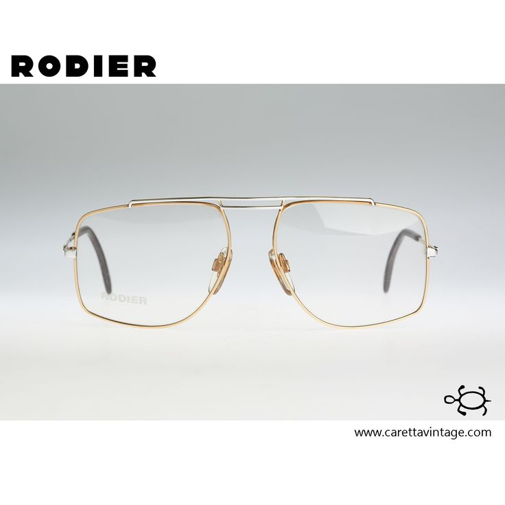 Rodier M139 502, Vintage aviator eyeglasses, 80s mens & women optical frame, rare and unique / NOS