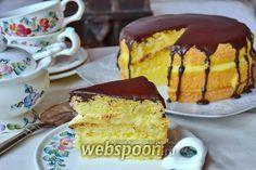 Фото Бостонский кремовый торт (Boston Cream Pie)